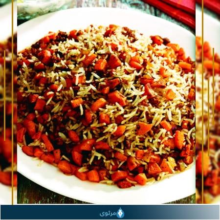 تاجينة الرز باللوبيا الحمراء